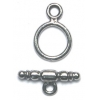 Toggle Plain 10mm Antique Pewter